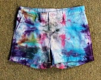Funky Tie Dye Girls' Shorts size 8 K011
