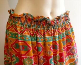 Aztec Boho Skirt Size 14 -16 Au