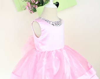 Cuty Pinky Infant Thanksgiving Dress, Toddler Christmas Dress, newborn girl dress, Birthday Dress 2 Year Old, PD093-2