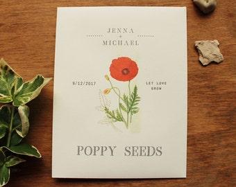 Seed Envelopes Poppy Favor