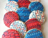 ZigZag Sugar Cookies with Buttercream Frosting