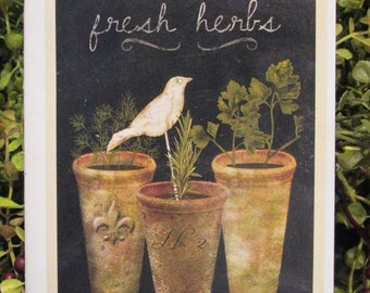 Fresh Herbs Everyday Greeting Card - FREE SHIPPING