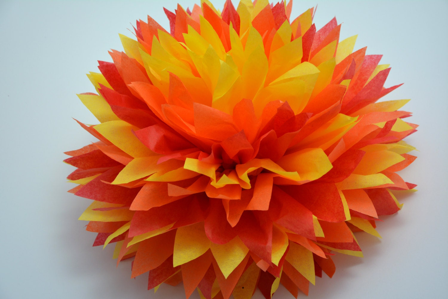 how to make tissue paper pom poms instructions