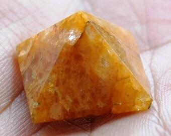 Himalayan golden quartz crystal  Pyramid 7006