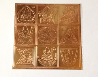 """3"""" South India 9 Planets Navgrah Yantra - Resolve All Astrological Problems"""