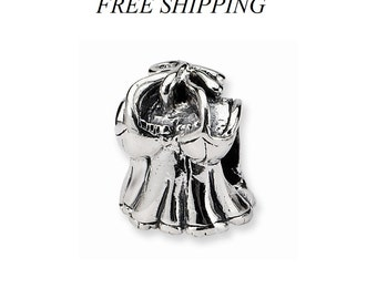 Sterling Silver Kids Shirt Bead