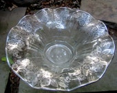 cambridge large silver overlay flared etched bowl