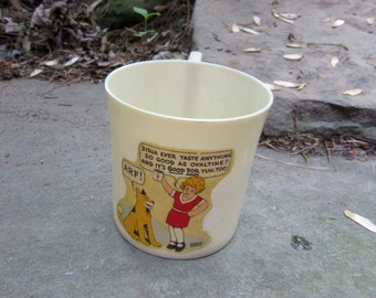 little orphan annie and sandy beetleware childs mug