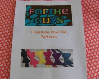 Men's Freestyle Bow Tie Pattern - Pattern for Bow Tie - Freestyle Bow Tie Pattern