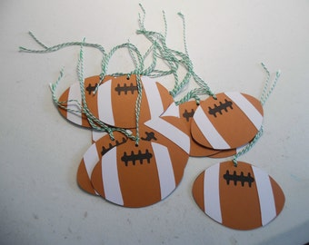 Party Favor Tags- Party Gift Tags- Football party favor tags- Party Favor Bag Tags- Foot Ball Birthday Tags