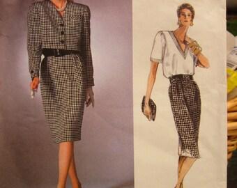 Vintage American Designer Series Vogue Pattern 1838: Bill Blass Suit Pattern SIZE 16