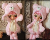 Pink Bear Outfit For Blythe