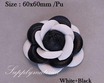 1PCS 60mm leather PU Rose Flowers