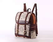 Mini Authentic Ethnic Hand Weaving Daypack Lined backpack Folk Woven Textile Traditional Boutique Rucksack