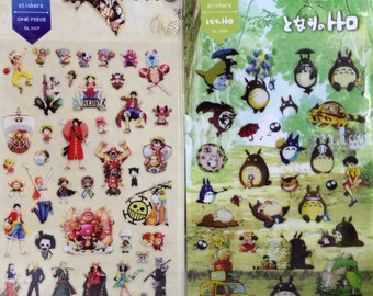 Japanese / Korean Stickers- Totoro or One Piece