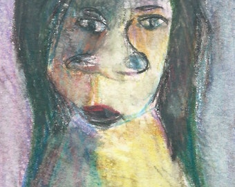 Original ACEO Watercolor Painting- My Unpleasant Teacher