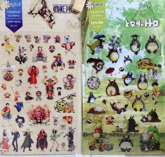 Japanese / Korean Stickers- Totoro or One Piece