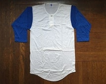 vintage russell athletic baseball tee size large
