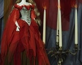 Elemental Power: Eternal Flame OOAK handmade dress set for bjd dollfie sd spiritdoll proud 1st clothing clothes doll size fantasy style
