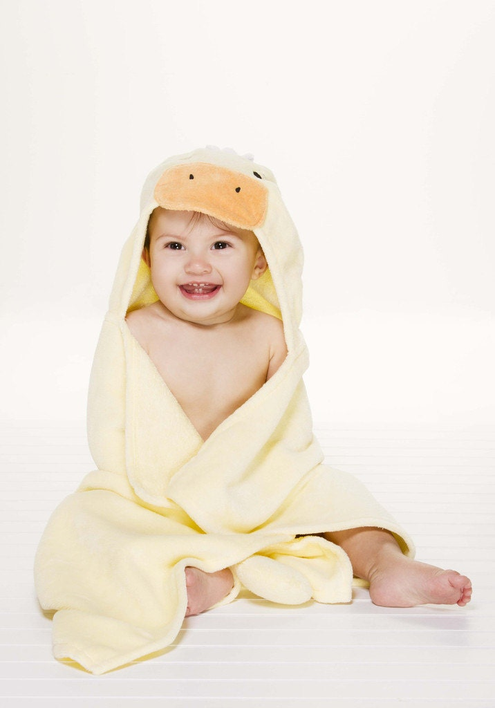 personalized baby hooded towel ducky. Black Bedroom Furniture Sets. Home Design Ideas