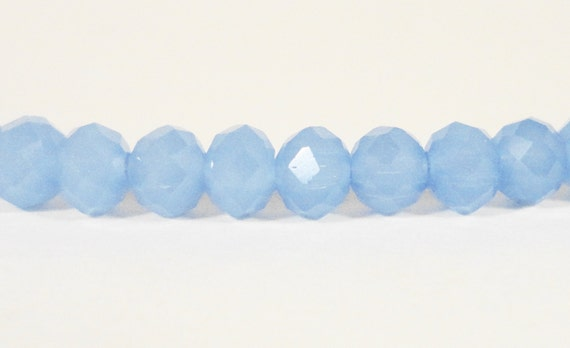Rondelle Crystal Beads 4x3mm (3x4mm) Opaque Frosted Periwinkle Blue Small Faceted Chinese Crystal Glass Beads 99 Loose Beads per Pack