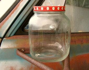 Vintage JFG Hazel Atlas Peanut Butter Gallon Jar Vintage Glass Jar