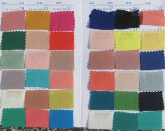 Chiffon Fabric Swatches for our chiffon dresses, pants and skirts