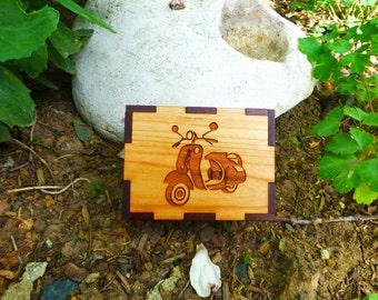 Vespa Engraved Box For The Vespa Enthusiast!