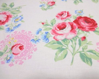 Japanese Fabric LECIEN Flower Sugar Lace White FQ