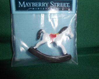 Miniature Metal Rocking Horse