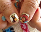 Mexican pin up Nail Decals viva mexico!