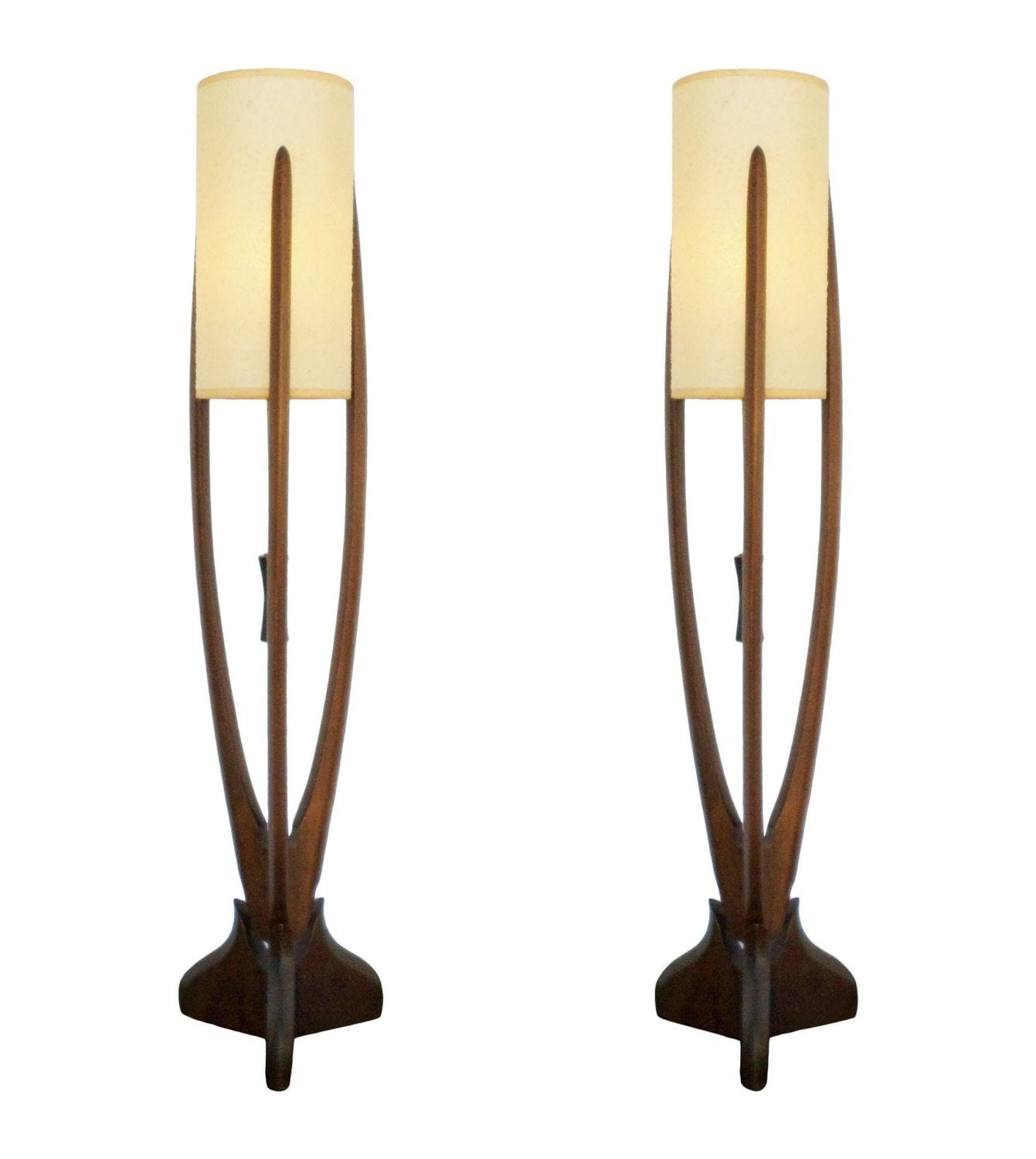 Vintage Danish Modern Table Lamps A Pair Mid Century