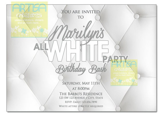 All White Party Invitation, White Party Invitation, Summer White Party ...: https://www.etsy.com/listing/231572524/all-white-party-invitation...