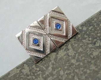 Rhinestone Cufflinks Vintage Mens Jewelry Swank Accessories H705