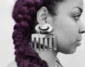 Duafe - Huge Adinkra Mirrored Earrings