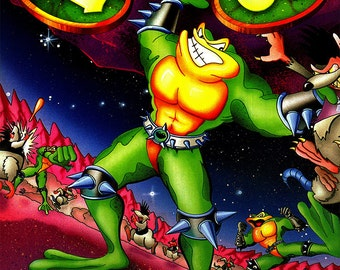 "Battletoads 18 x 24"" Video Game Poster"