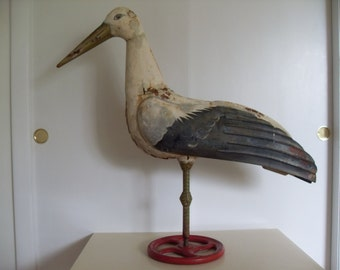 Vintage Tin Bird Garden Sculpture