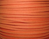 Cantaloupe Faux Suede Fiber Cording, DIY jewelry making cording, Man made faux suede cording strands, 10 / 2.50, by Color Kissed Silk LLC.