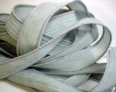 "Haze 42"" hand dyed silk wrist wrap bracelet  ribbon//Yoga wrist wrap bracelet ribbons//Silk wrist wrap ribbon// By Color Kissed Silk"