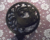 Hold for Jill Vintage Wrought Iron Rooster Hot Plate, Black Wrought Iron Hot Plate,  Wall Hanging, Wrought Iron Trivet
