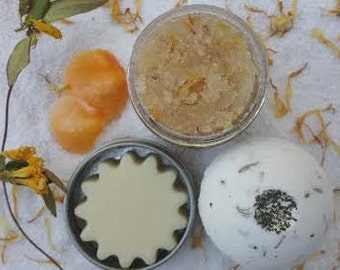 Flip Flop Footsies Pampering Set in Citrus, Honey Almond, Lavender and Mint...Get Those Feet Ready for the Summer1