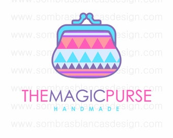OOAK Premade Logo Design - Neon Purse - Perfect for a handmade bags brand or an accessories shop