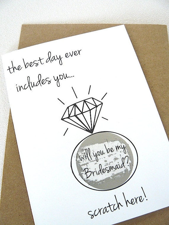 will you be my bridesmaid scratch off card black by janetmorrin. Black Bedroom Furniture Sets. Home Design Ideas