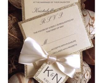 Gold Wedding Invitation , Gold Wedding Invitations, Gold And Ivory Wedding  Invitation, Gold Invitation