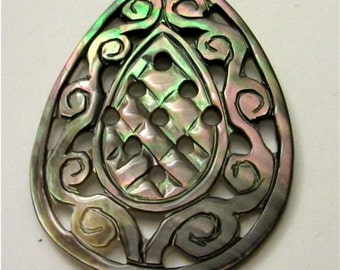 Carved Mother of Pearl Cabochon