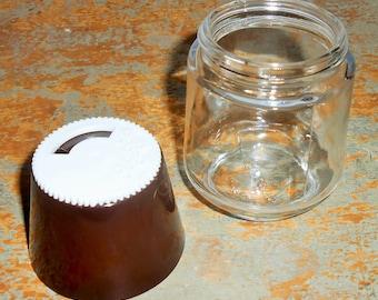 Vintage Salt & Pepper Shaker, Brown, Gemco, Glass, Plastic, 1970's