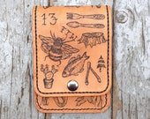 Tattoo Flash Handmade Real Leather Wallet