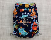 Tula Monster Mash Size All In One, All In Two, or Pocket Cloth Diaper