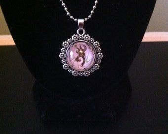 Browning necklace camo w/ lavender tint