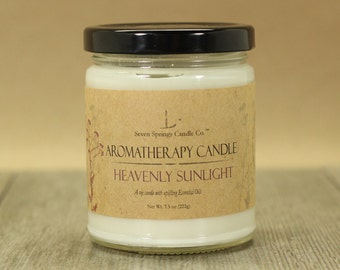 Lavender Blend with Lemongrass Hand Crafted Soy Candle Made with Pure Essential Oils 9 Ounces